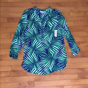 NWT Old Navy green long sleeve top size XS